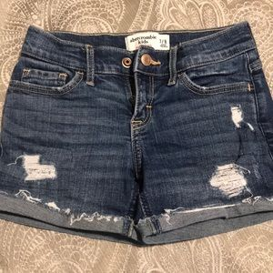 Abercrombie kids denim shorts
